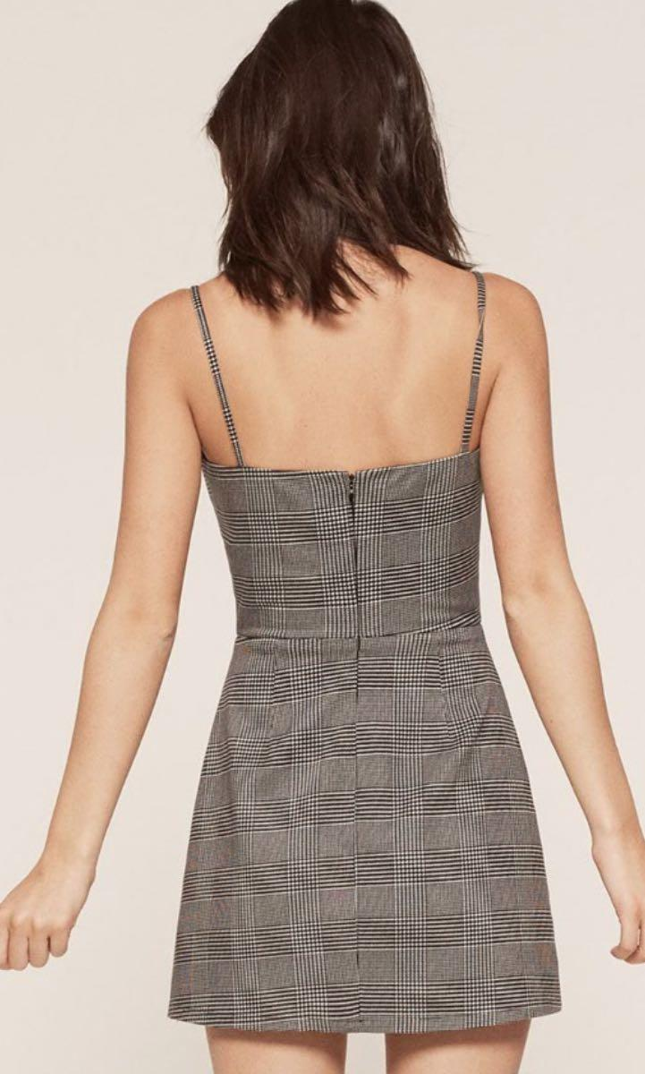Reformation styled checked dress by Pinkpink/ Size M