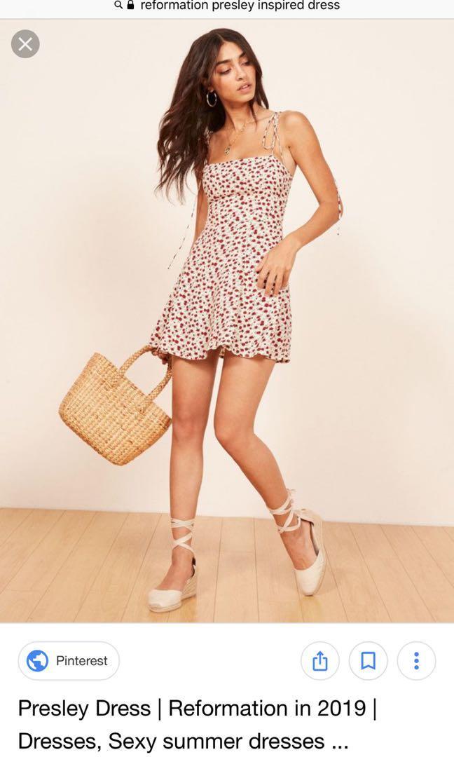 Reformation styled Presley dress by Pinkpink/ summer dress short / floral dress / Size M