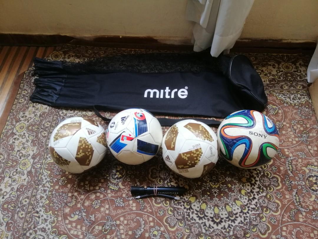 Soccer balls for sale.
