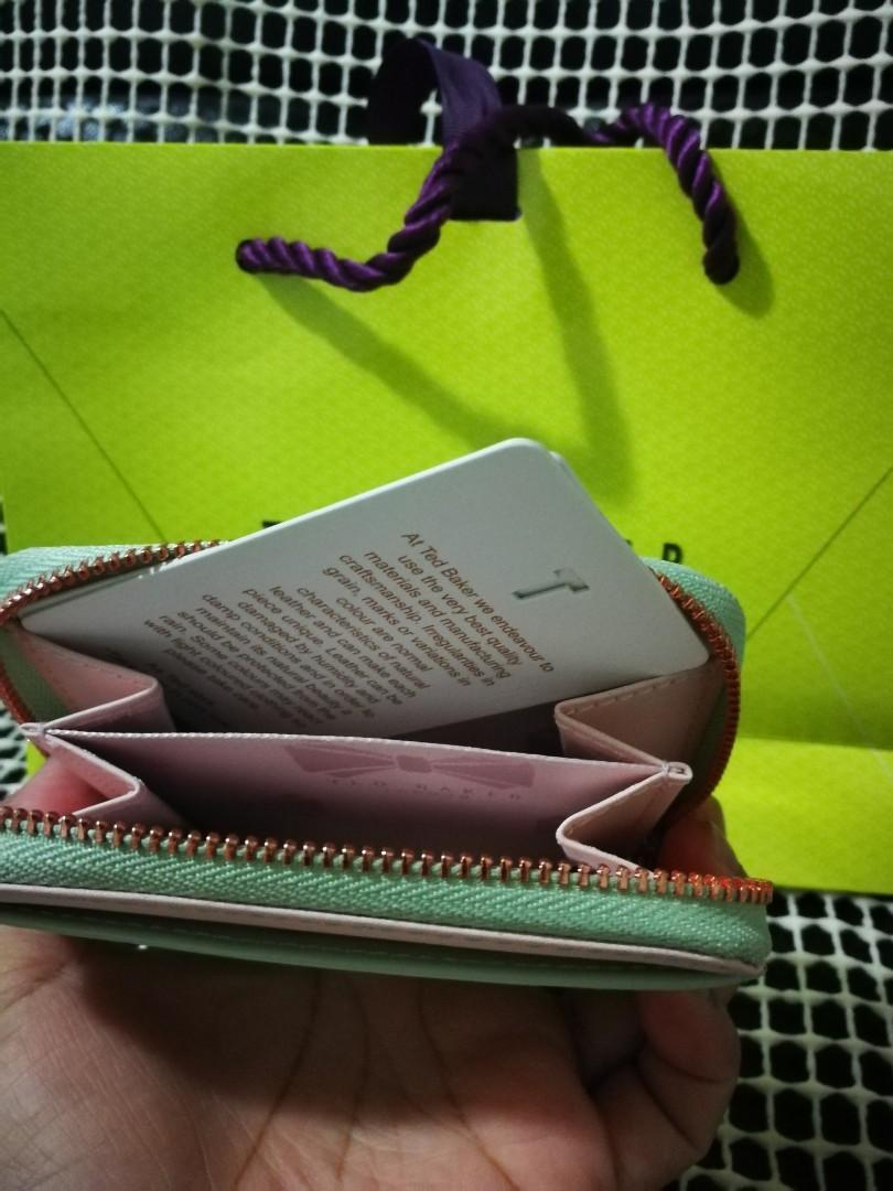 Ted Baker Omarion Patent Zip Around Compact Wallet 👛