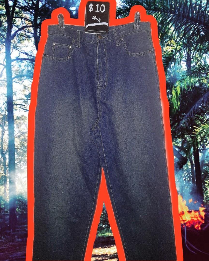 Thick High Quality Dark Denim Jeans Straight 12-14