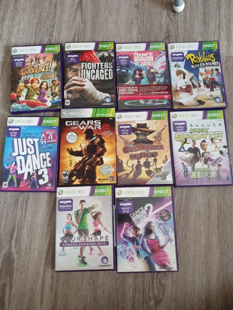 Xbox 360 Kinect console with all games, Toys & Games, Video