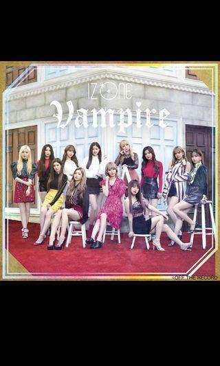 Iz*one 3rd Japan Single Vampire