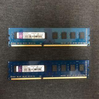 Kingston Ram ddr3 8GB (2x4gb)