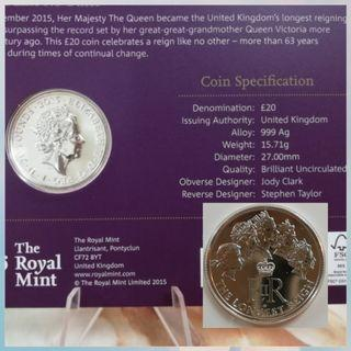 The Longest Reigning Monarch Silver 999