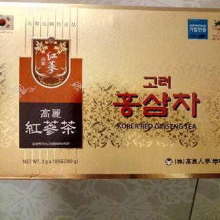 【韓國高麗】養生紅蔘茶包(一盒100包)