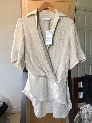 Brand new Zara wrap blouse