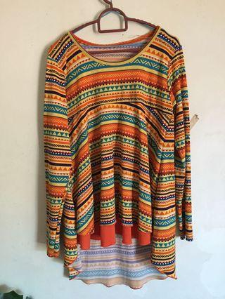 Orange Tribal Top