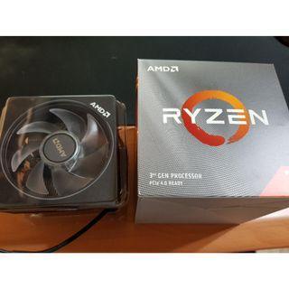 【全新】AMD Ryzen7 3700X 原廠 CPU風扇 塔式散熱器 Wraith Prism 散熱器 AM4
