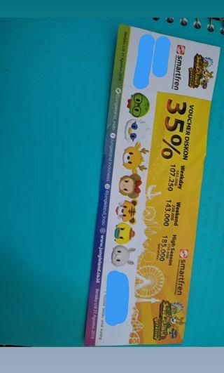 Voucher ticket Jungle Land discount 35%, max. 4 person/orang