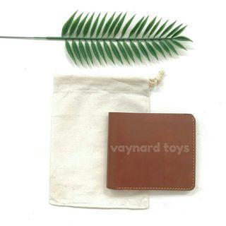 Men leather wallet dompet kulit pria men's leather wallet brown coklat tan