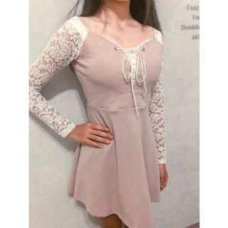 春夏蕾絲粉色系少女洋裝 二手衣