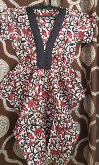 dress batik#dress#batik#gaun#free ongkir#dress kerja