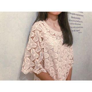 韓系春夏粉色花花少女連身裙兩件式洋裝 附背心 二手衣