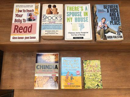 Non fiction books - all paperback