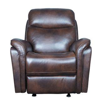 Old Man Rocking Recliner Chair in Italian Top Grain Leather