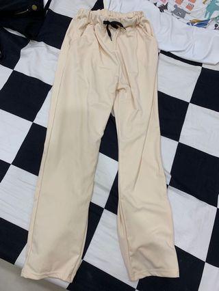 全新)哈倫褲米色1件