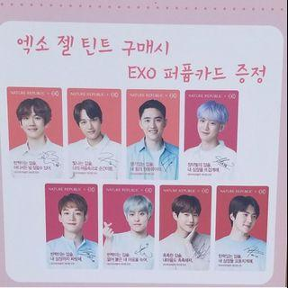 EXO Nature Republic Lip Tint Scented Photocard