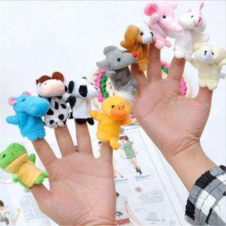 🚚 10Pcs Baby Kids Finger Animal Educational Story Toys Puppets Cloth
