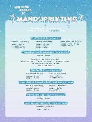 Printing photocard, banner, mini banner, photostrip, sticker, kpop printing