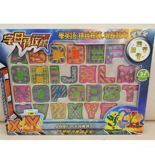英文字母機器人桌遊