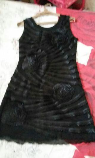Dress black uk M,L muat