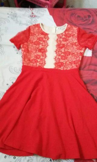 Dress Merah import size L/XL