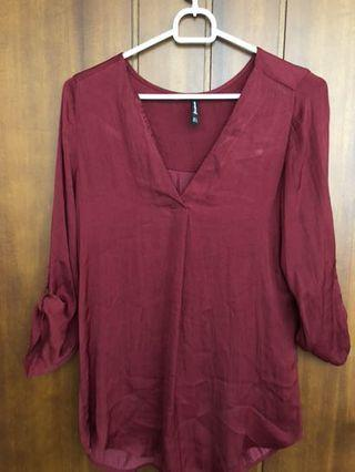 Red Blouse Stradivarius