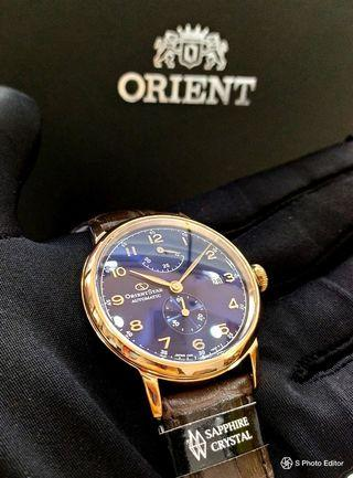 * FREE DELIVERY * Made in Japan Brand New 100% Authentic Orient Star Limited Edition Rose Gold with Blue Dial Men's Automatic Dress Watch RE-AW0005L