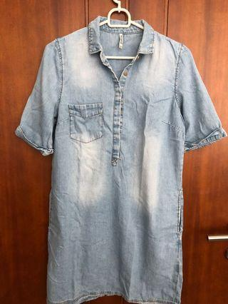 Denim Dress Stradivarius