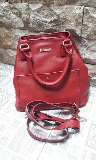 Tas Elizabeth (merah-marun) Preloved
