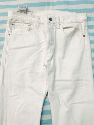 LEVIS Original White Denim Jeans Pants Vintage Thrift Murah