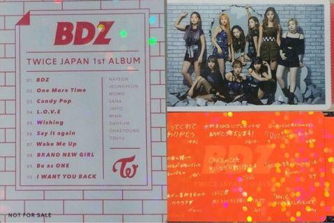 WTB Twice BDZ Photocard