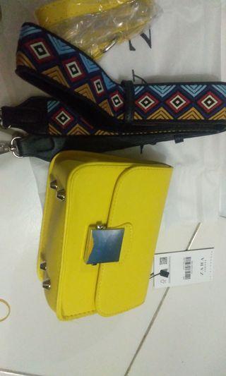tas zara yellow new