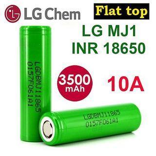 LGMJ1 Flat Top 3500mAh 10A Li-ion INR 18650 Battery