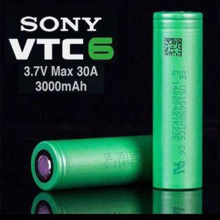 Sony Murata VTC6 Flat Top 3000mAh 30A Li-ion 18650 Battery