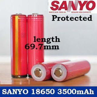Sanyo NCR18650GA Protected Button Top 3500mAh 10A Li-ion 18650 Battery