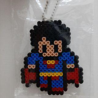 Bag charm / gantungan tas / hamabeads / superhero series / marvel / dc