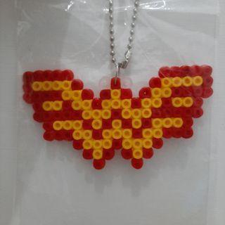 Bag charm/ gantungan tas / hamabeads / superhero marvel / DC / logo superhero