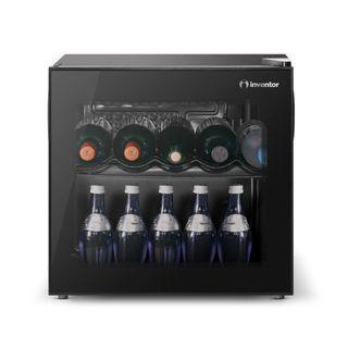 Inventor Mini Vino Wine Cooler Fridge 43L, Glass Door