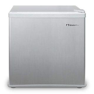 Inventor Mini Fridge 43L, Silver, A++ Energy Savings, Ideal for Bedroom and small Office space. [Energy Class A++]