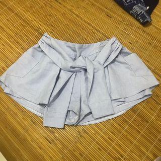襯衫綁帶造型褲裙 F L可