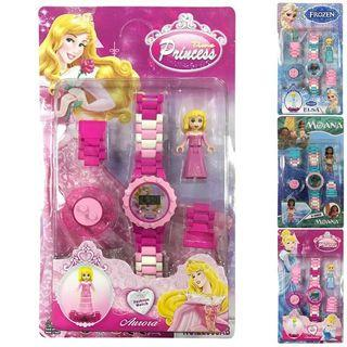 Baby Girl Cartoon Building Blocks Watchs Kids Gift Building Blocks