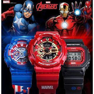 Casio gshock GA110 Avengers Marvels iron man Captain America men women watch wrist watches