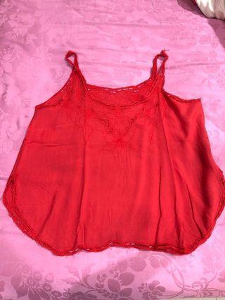 Baju bali merah bahan adem