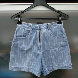 Celana Pendek jeans garis
