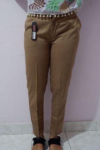 Baggy pants bahan american drill moka