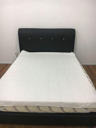 Queen Size Bed Frame + matress