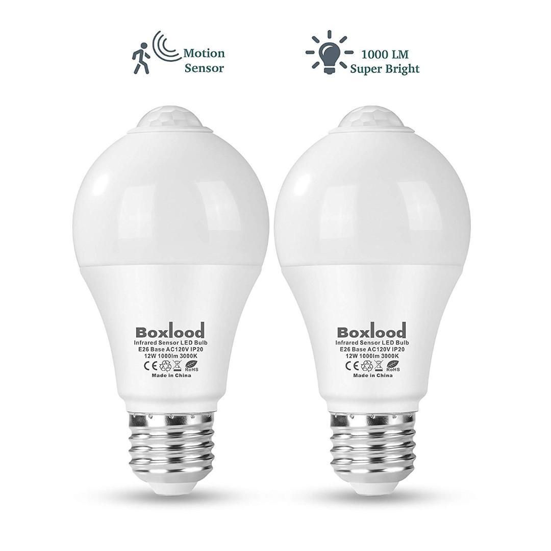 Boxlood 12w Motion Sensor Light Bulb