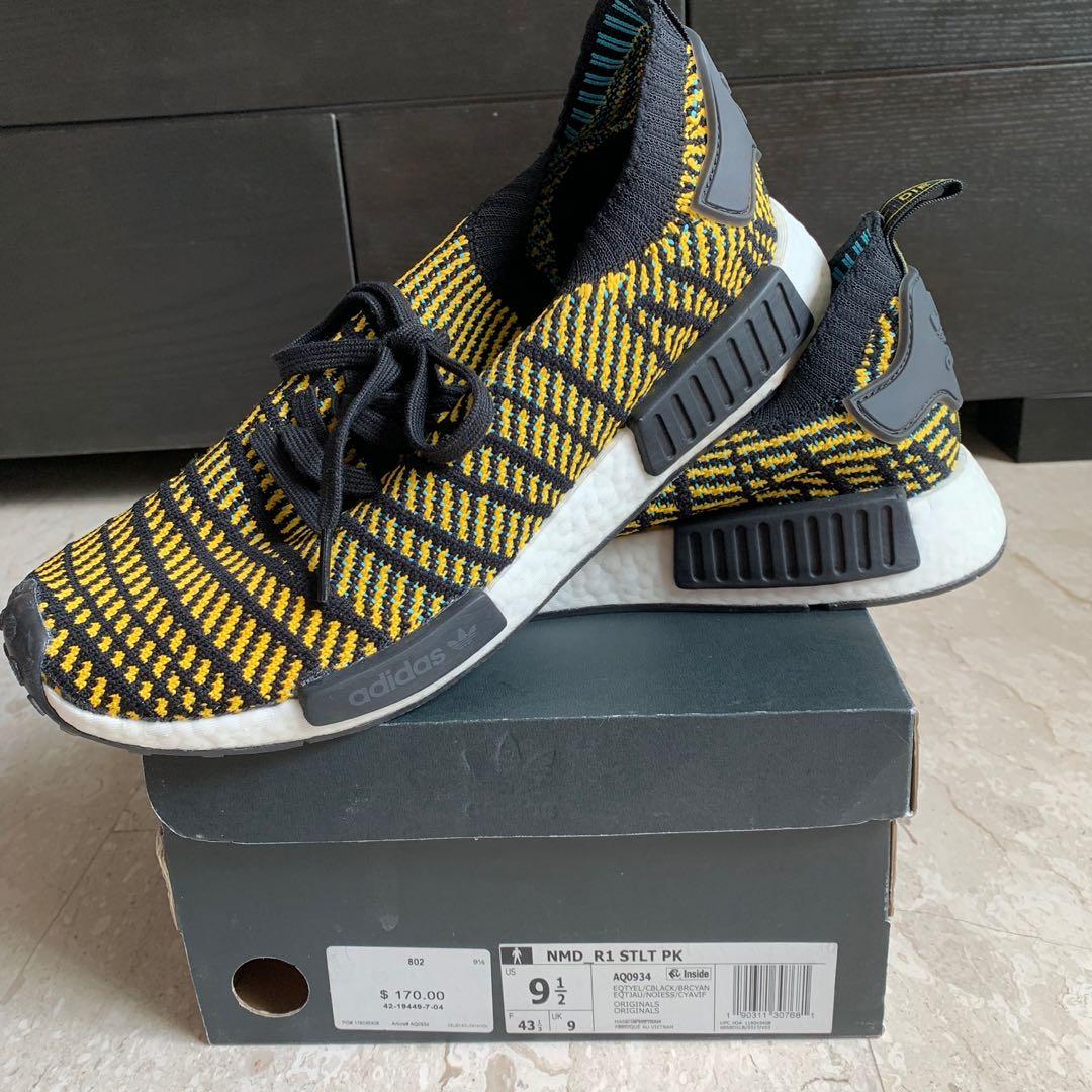 adidas nmd r1 stlt pk yellow
